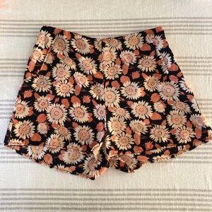 LUSH Floral High Waisted Shorts
